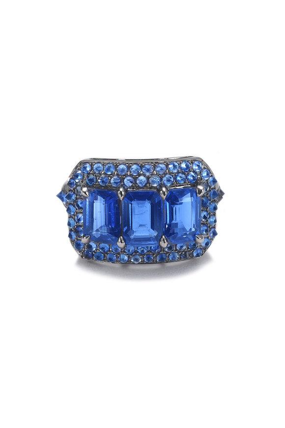 Nam Cho Blue Sapphire & Kyanite Ring