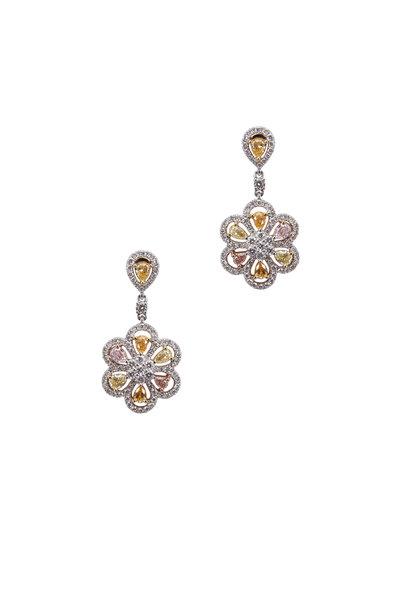 Kathleen Dughi - Flower Diamond Earring