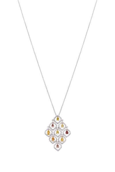 Kathleen Dughi - White Gold White & Fancy Diamond Necklace