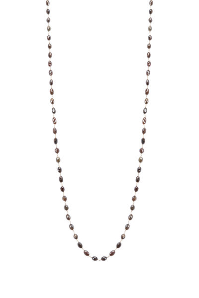 Kathleen Dughi - Yellow Gold Brown Diamond Bead Necklace