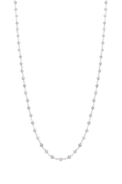 Kathleen Dughi - White Gold Grey Diamond Necklace