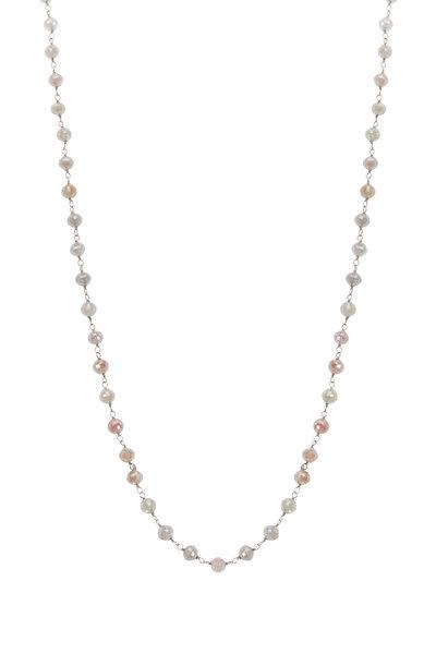 Kathleen Dughi - White Gold Light Brown Diamond Necklace