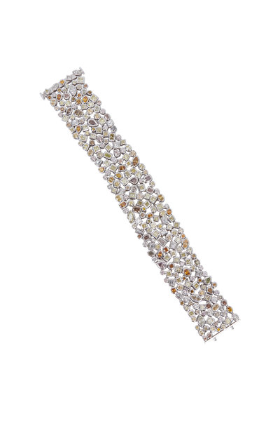 Louis Newman - Natural Fancy & White Diamond Bracelet