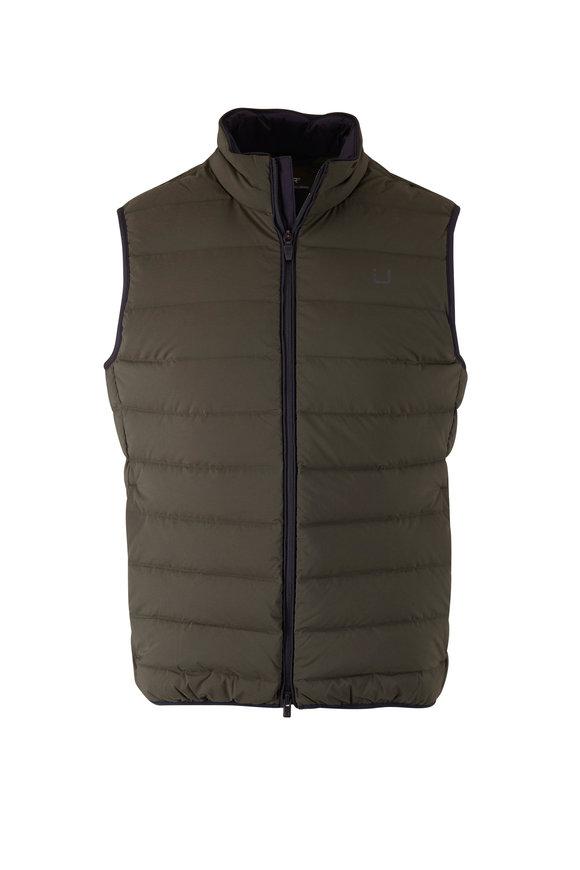 UBR Sonic Olive Green Puffer Vest
