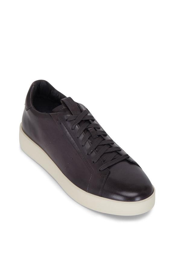 Santoni Declaims Dark Brown Leather Sneaker
