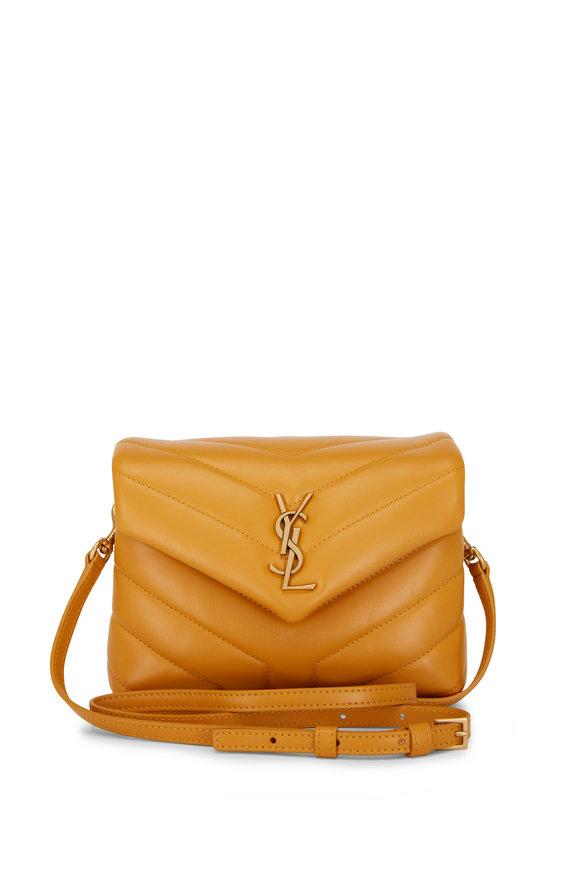 Saint Laurent Loulou Cheddar Leather Toy Shoulder Bag