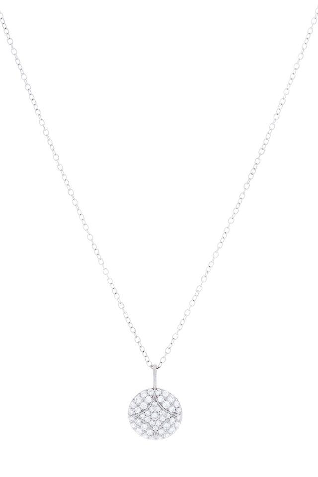 White Gold Pavé-Set Diamond Aladdin Necklace
