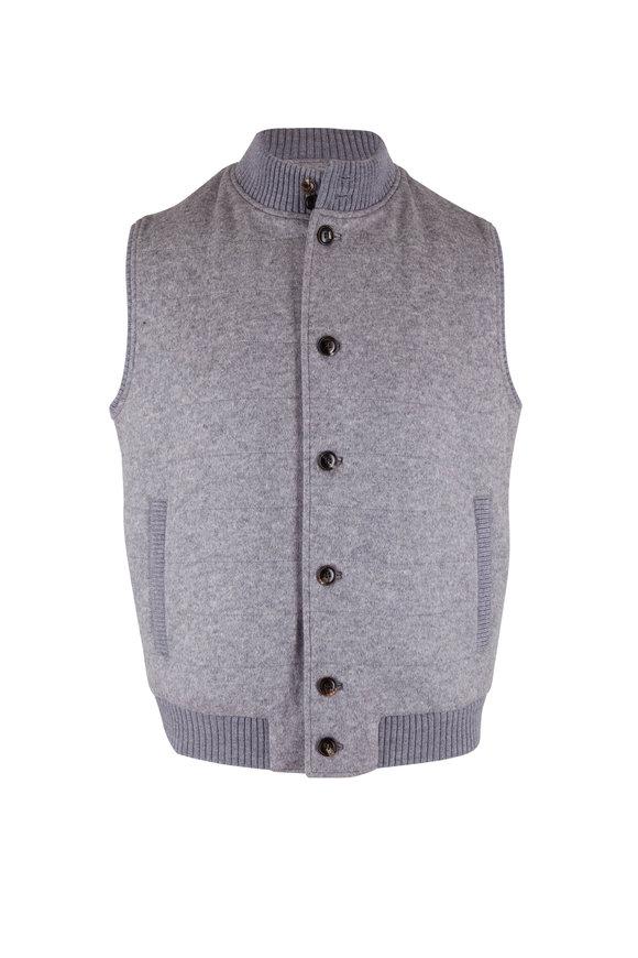 Peter Millar Gray Flex Fleece Wool Vest