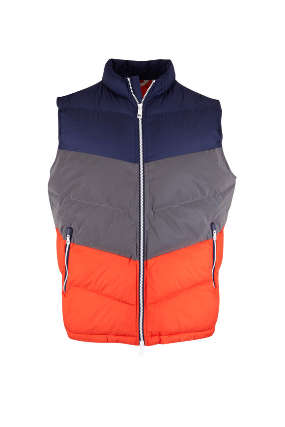 Peter Millar Navy Colorblock Aprés Ski Vest