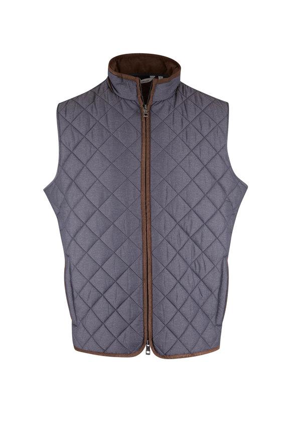 Peter Millar Essex Iron Quilted Travel Vest