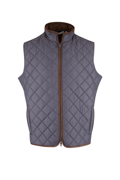 Peter Millar - Essex Iron Quilted Travel Vest
