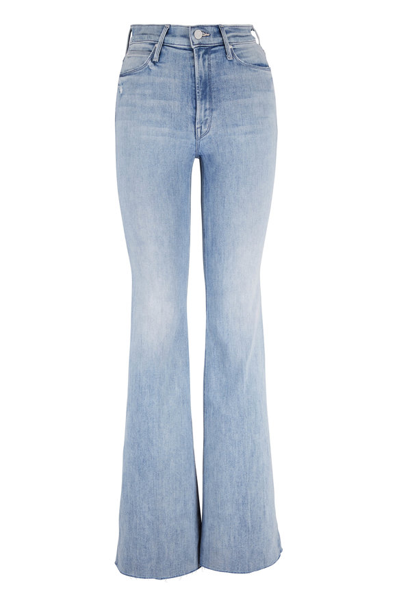 Mother Denim The Doozy Fray Knock On Wood Ultra-Wide Flare Jean