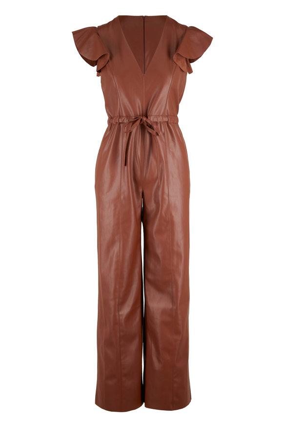 Sachin + Babi Kaydie Cognac Belted Jumpsuit