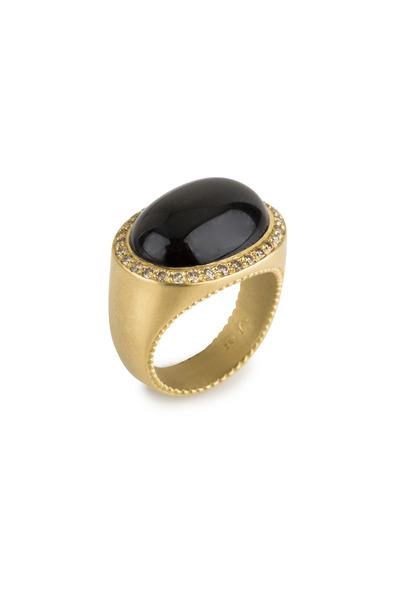 Jamie Wolf - Yellow Gold Bona Dea Diopside Diamond Ring