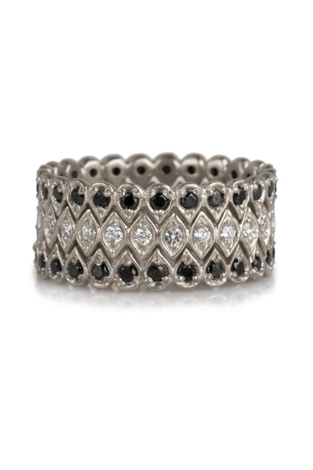 Black & White Diamond Trinity Ring