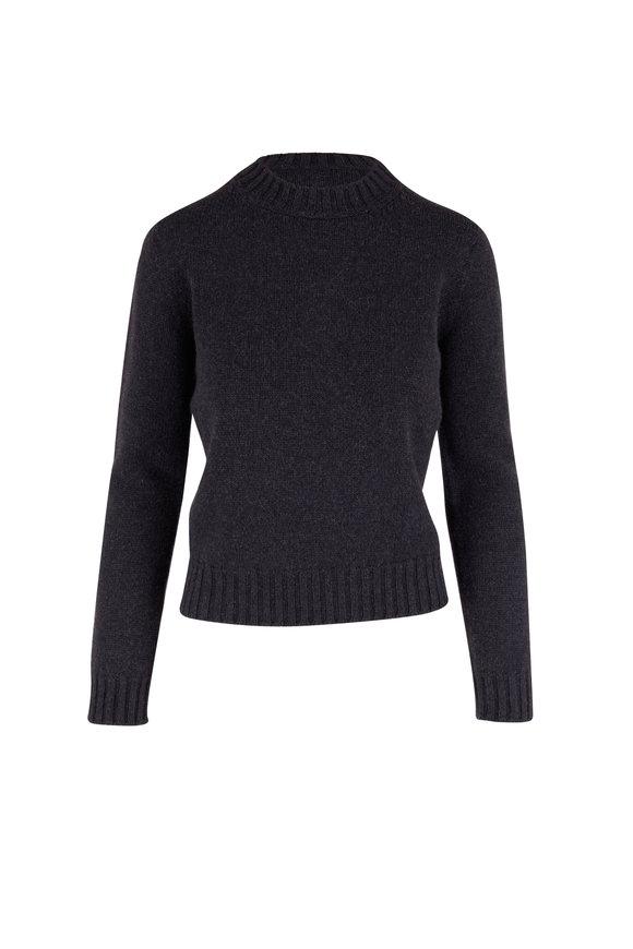 Max Mara Lodi Anthracite Wool & Cashmere Crewneck Sweater