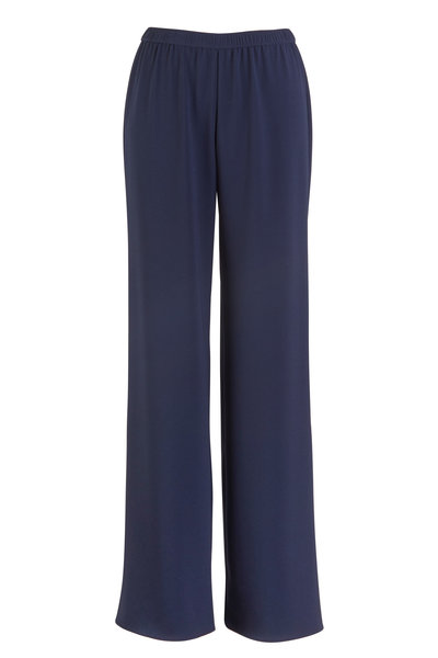 Peter Cohen - Navy Blue Straight Trousers