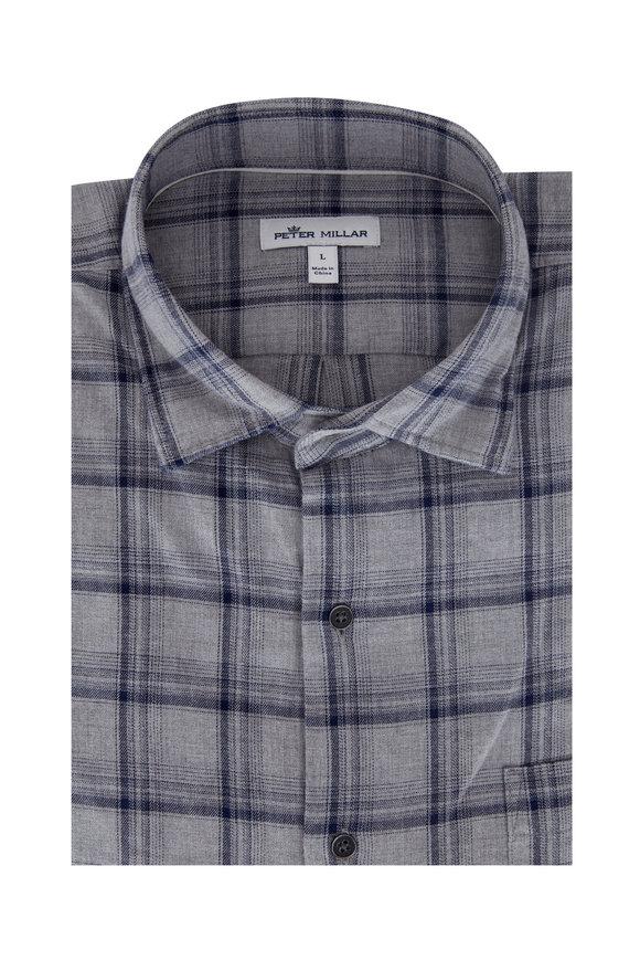 Peter Millar Laval Gray Cotton Sport Shirt