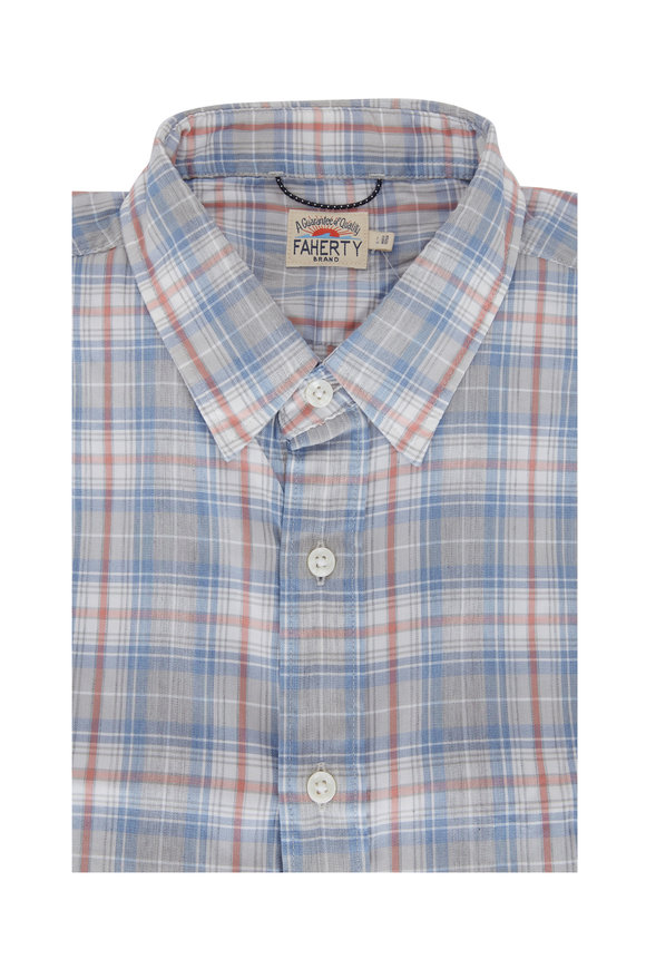 Faherty Brand The Movement™ Slate Plaid Button Down
