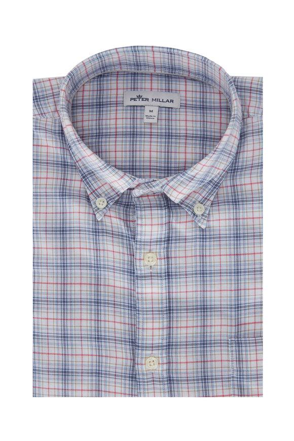 Peter Millar Chandler Multicolor Check Cotton Sport Shirt