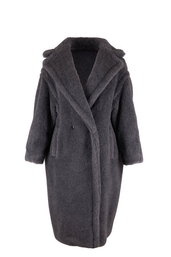 Max Mara Teddy Gray Wool, Alpaca & Silk Coat