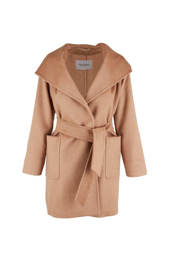 Max Mara Rialto Camel Wool Belted Coat