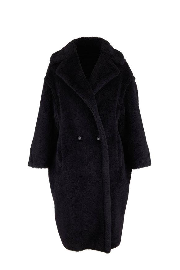 Max Mara Tedgirl Black Alpaca, Wool & Silk Coat