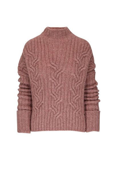 Vince - Rose Mirrored Cable Turtleneck