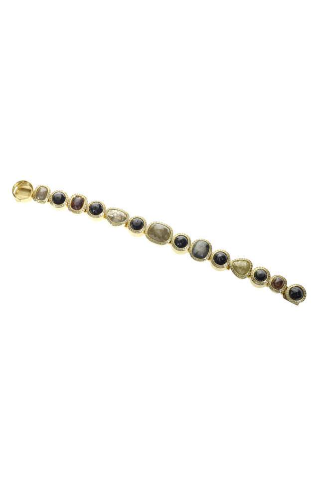 Gold Fancy Diamond Bracelet