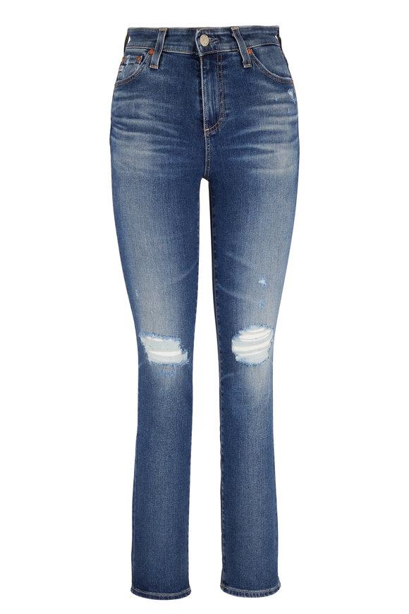 AG Mari Distressed High-Rise Straight Jean