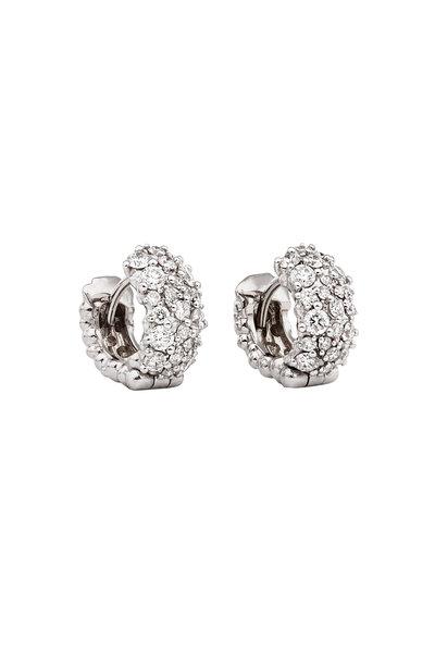 Paul Morelli - White Gold Mixed Diamond Cluster Stud Earrings