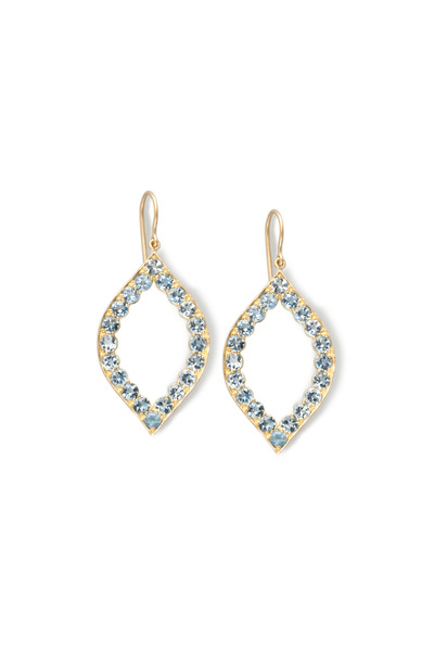 Jamie Wolf - Gold Scallop Aqua Marquise Earrings