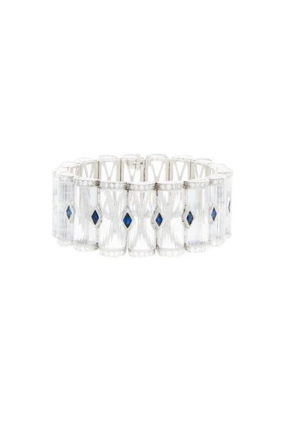 Oscar Heyman - Platinum Quartz Sapphire Crystal Diamond Bracelet