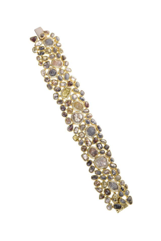 Fancy Diamond Gold Bracelet