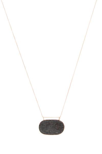 Tulah Jem - Rose Gold Pavé-Set Sapphire Pendant