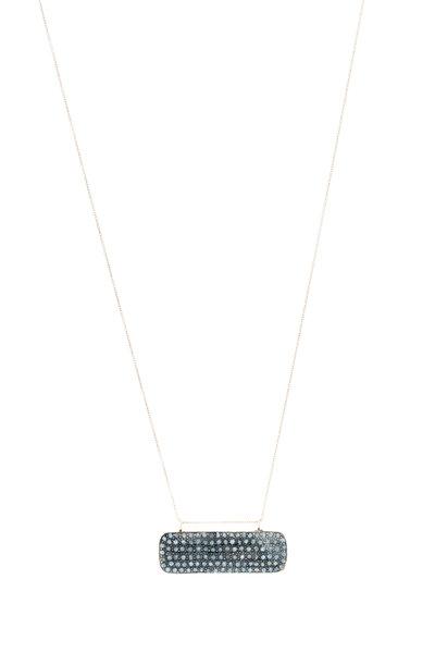 Tulah Jem - Yellow Gold White Diamond Bar Necklace