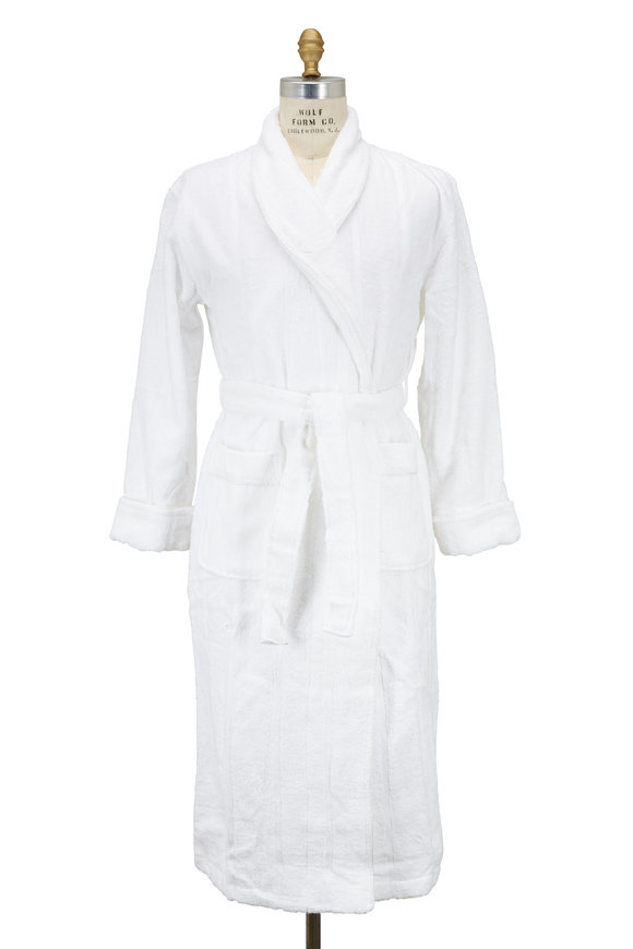Majestic White Cotton Terry Robe