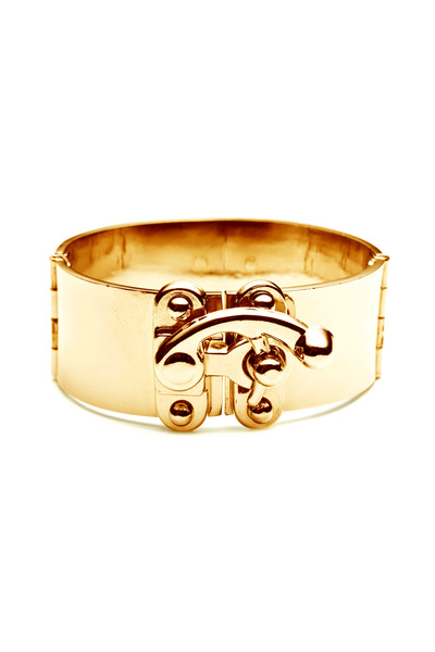 Eddie Borgo - Yellow Gold Plate Hook Latch Cuff Bracelet