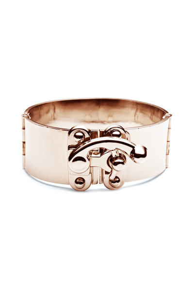 Eddie Borgo - Brass Rose Gold Plate Hook Latch Cuff Bracelet