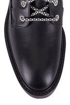 Aquatalia - Sabine Black Leather Lace Up Boot, 55mm