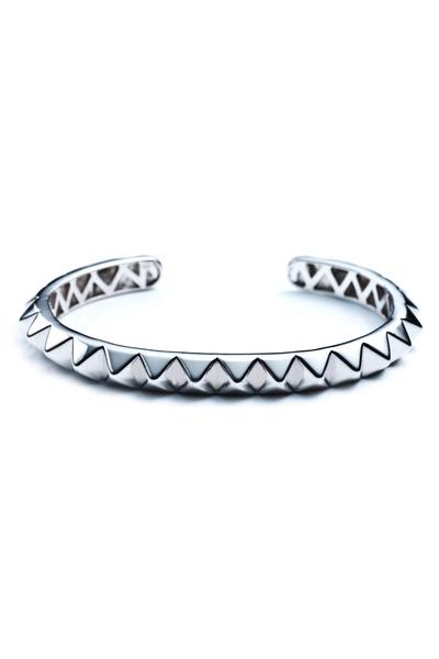 Eddie Borgo - Silver Plate Pyramid Cuff Bracelet, Large