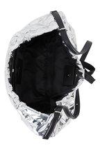 Alexander McQueen - Bundle Silver Drawstring Medium Shoulder Bag