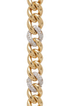 Cairo - Yellow Gold Diamond Link Bracelet