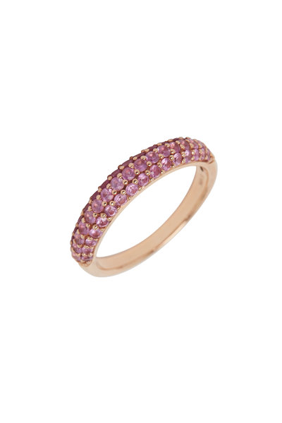 Cairo - Rose Gold & Pink Sapphire Band