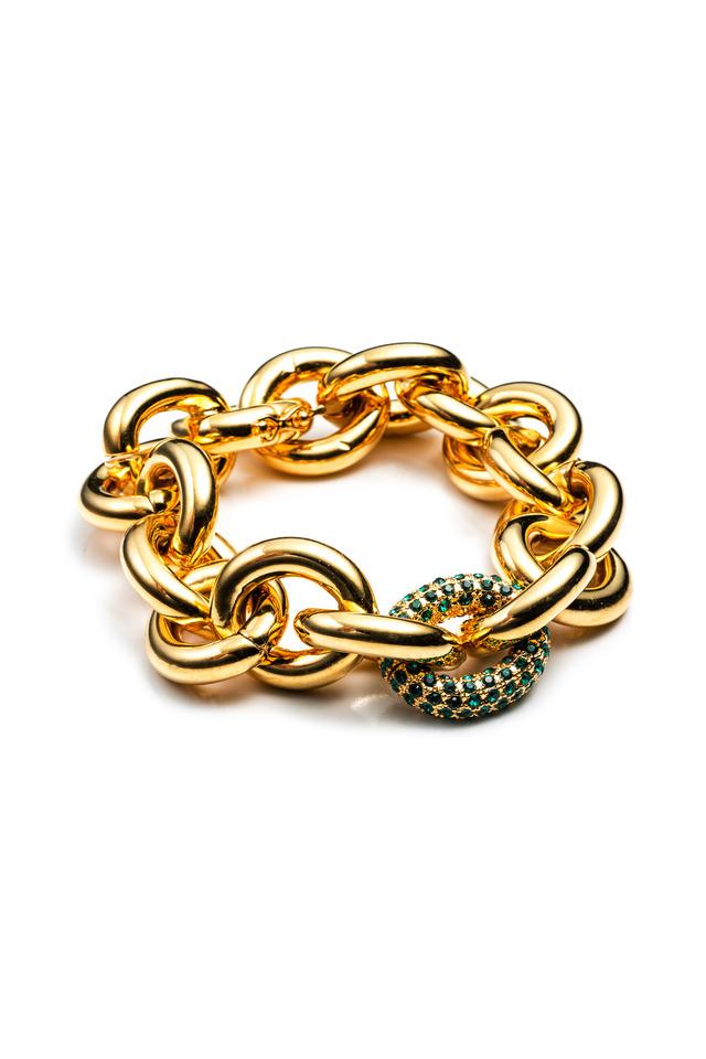 Brass Gold Plate Chain Link Bracelet