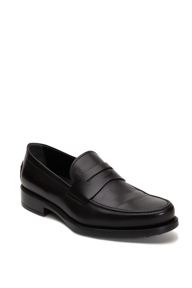 Boston Black Leather Penny Loafer