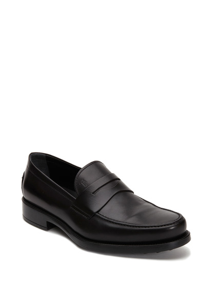 Tod's - Boston Black Leather Penny Loafer