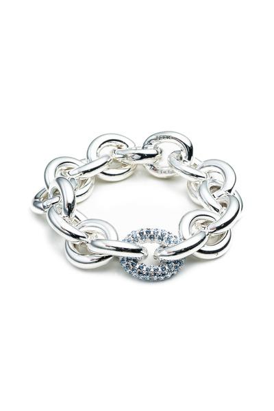 Eddie Borgo - Brass Rose Gold Plate Pave Chain Link Bracelet