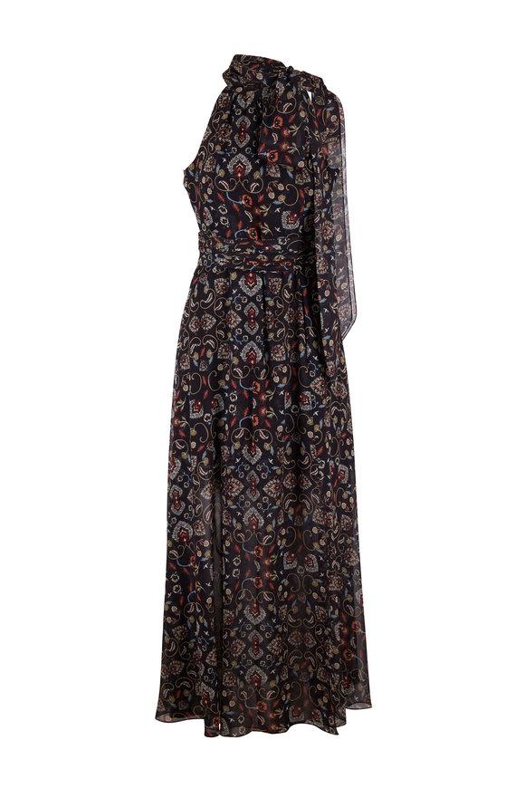 Sachin + Babi Tatum Black Swirl Motif Maxi Dress