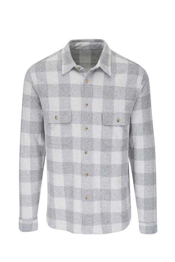 Faherty Brand Cloud Legend™ Buffalo Check Sweater Shirt